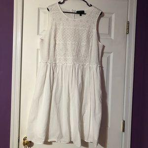 Mid-length Lane Bryant (20) white dress.